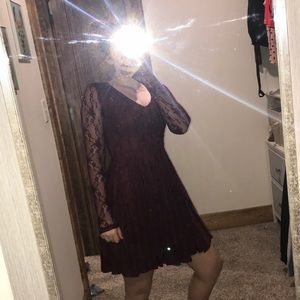 Altar'd state lace maroon dress